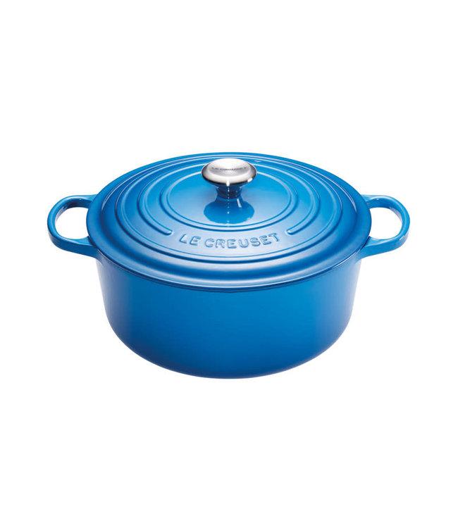 Le Creuset ronde braadpan 24 cm Marseille blauw