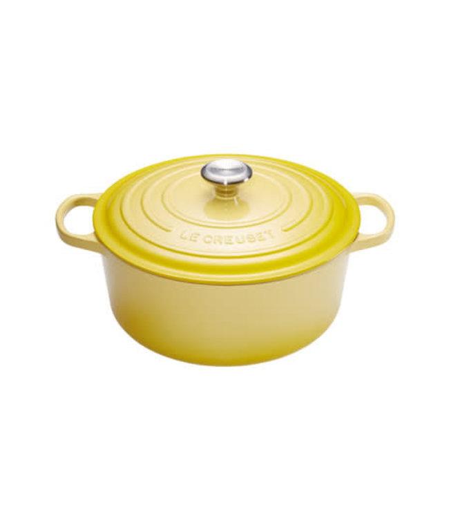 Le Creuset ronde braadpan 24 cm Soleil geel