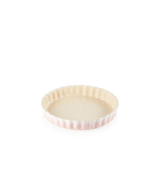Le Creuset taartvorm/ quiche aardewerk 28 cm Shell Pink