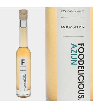 Foodelicious Foodelicious ansjovis peper azijn 225ml
