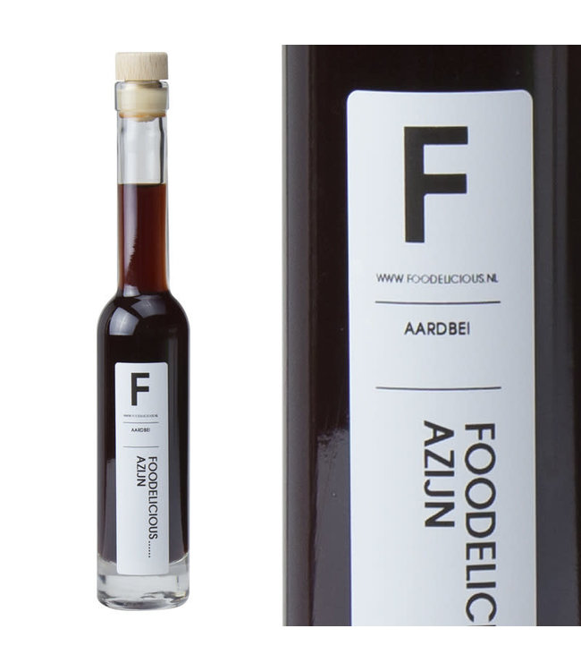 Foodelicious aardbei  azijn 225ml