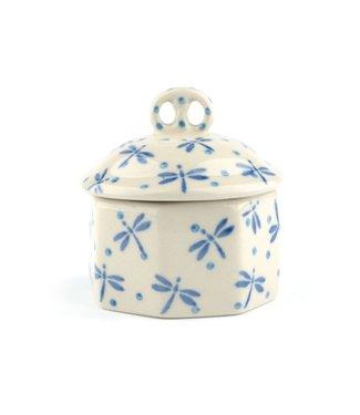 Bunzlau Castle Bunzlau miniature box Damselfly  Ø: 6 cm, 50 ml