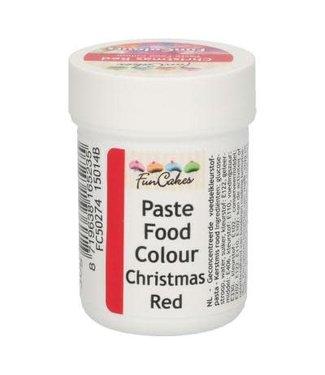 Funcakes Funcakes kleurstof pasta christmas red 30 gr.