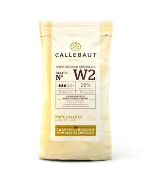 Callebaut Callebaut chocolade callets/ drops wit 1 kg