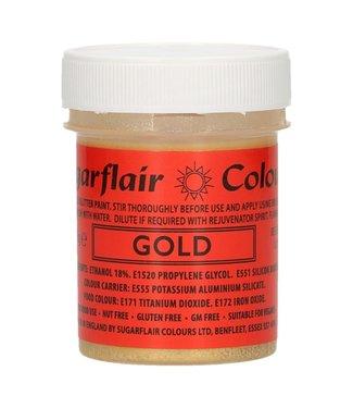 Sugarflair Sugarflair edible glitter verf goud 35 gr.