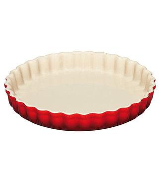 Le Creuset Le Creuset taartvorm/ quiche  aardewerk 28 cm Cerise/kersenrood actie