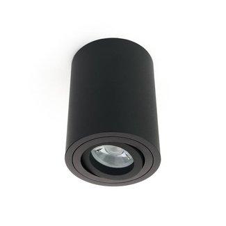 LED Opbouwspot - GU10 - Rond - Zwart