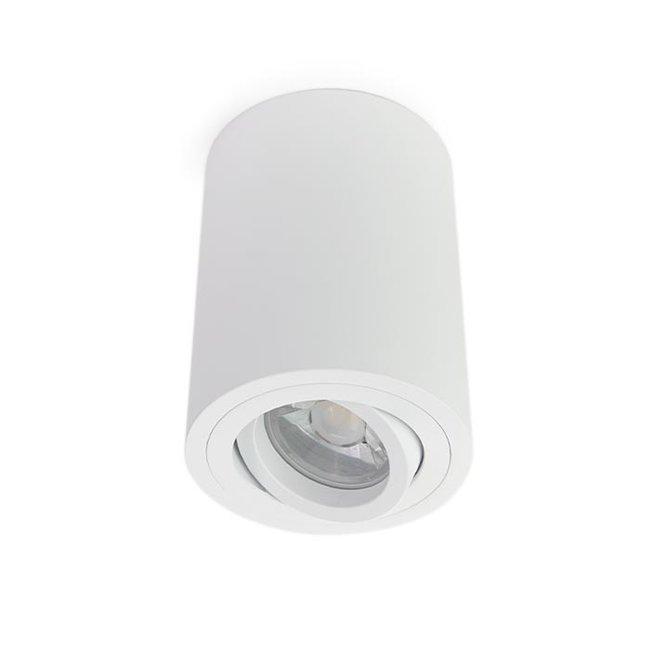 LED Opbouwspot - GU10 - Rond - Wit