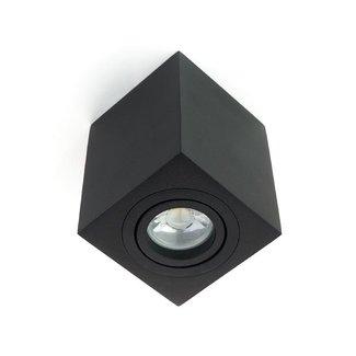 LED Opbouwspot - GU10 - Square - Zwart