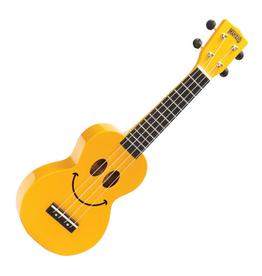 MAHALO ukulele, with bag, smile YELLOW