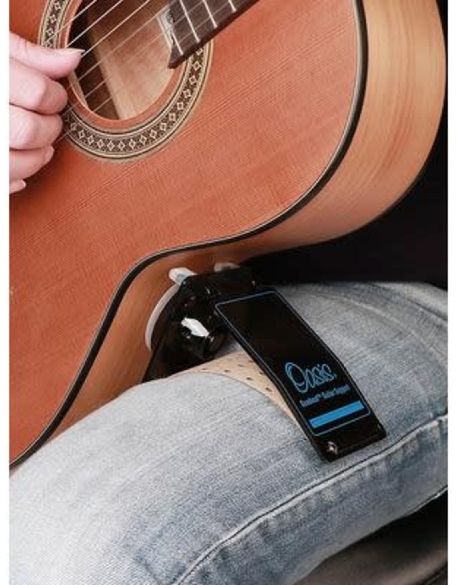 gitaarsteun, geschikt voor klassieke en staalsnarige gitaren