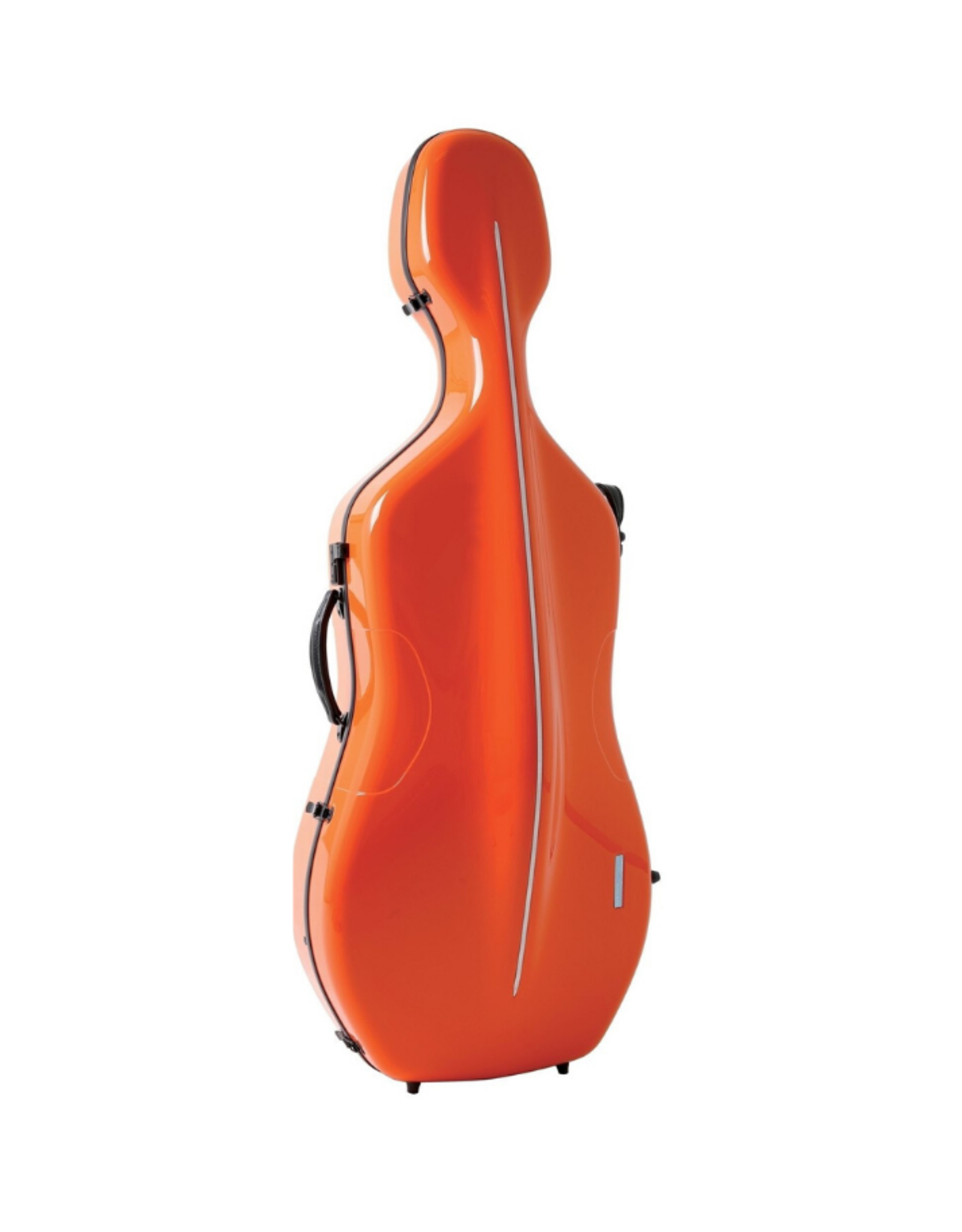 GEWA Air Carbonkist Cello ORANJE, 3,9 kg, plaats voor 2 bogen, glanzend, aluminiumbrugbescherming, cijferslot