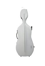 GEWA Air Carbonkist Cello WIT, 3,9 kg, plaats voor 2 bogen, glanzend, aluminiumbrugbescherming, cijferslot