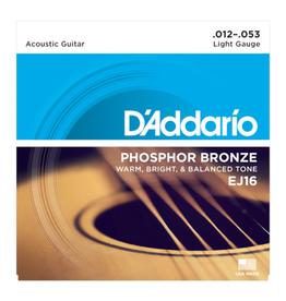 D'ADDARIO snarenset voor akoestische gitaar, phosphor bronze