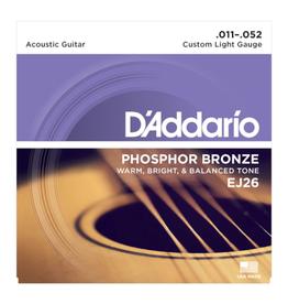 D'ADDARIO snarenset voor akoestische gitaar, custom light, phosphor bronze