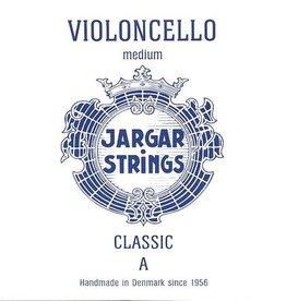 JARGAR cellosnaar, la (A-1), 4/4 classic, medium, blue flexi-metal
