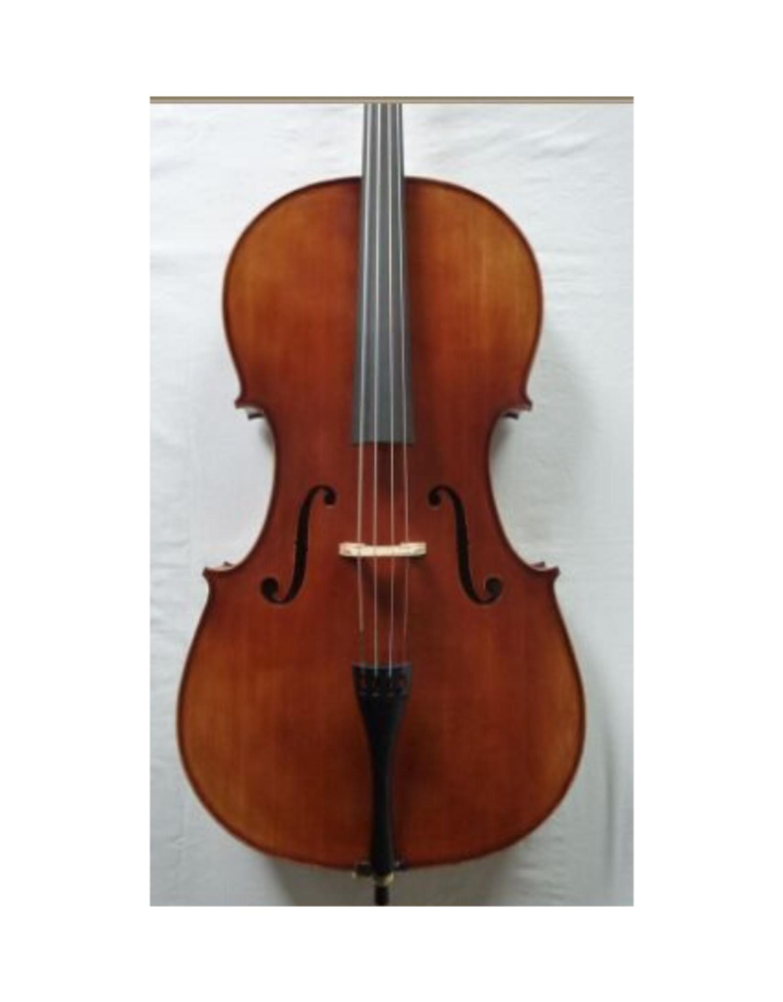 STARTER Sielam 1/4 cello. (set). Massief vuren en esdoorn. Ebben toets ; inclusief degelijke gevoerde tas en kwaliteits-strijkstok (ebben slof, parijs oog)