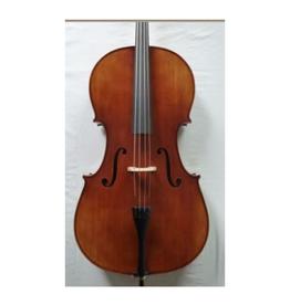 STARTER Sielam  3/4 cello. (set).Massief vuren en esdoorn. Ebben toets. inclusief degelijke gevoerde tas (19mm) en kwaliteits-strijkstok (ebben slof, parijs oog)
