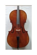 STARTER Sielam 4/4 cello (set) .  Massief vuren en esdoorn. Ebben toets ; inclusief degelijke gevoerde tas en kwaliteits-strijkstok (ebben slof, parijs oog)
