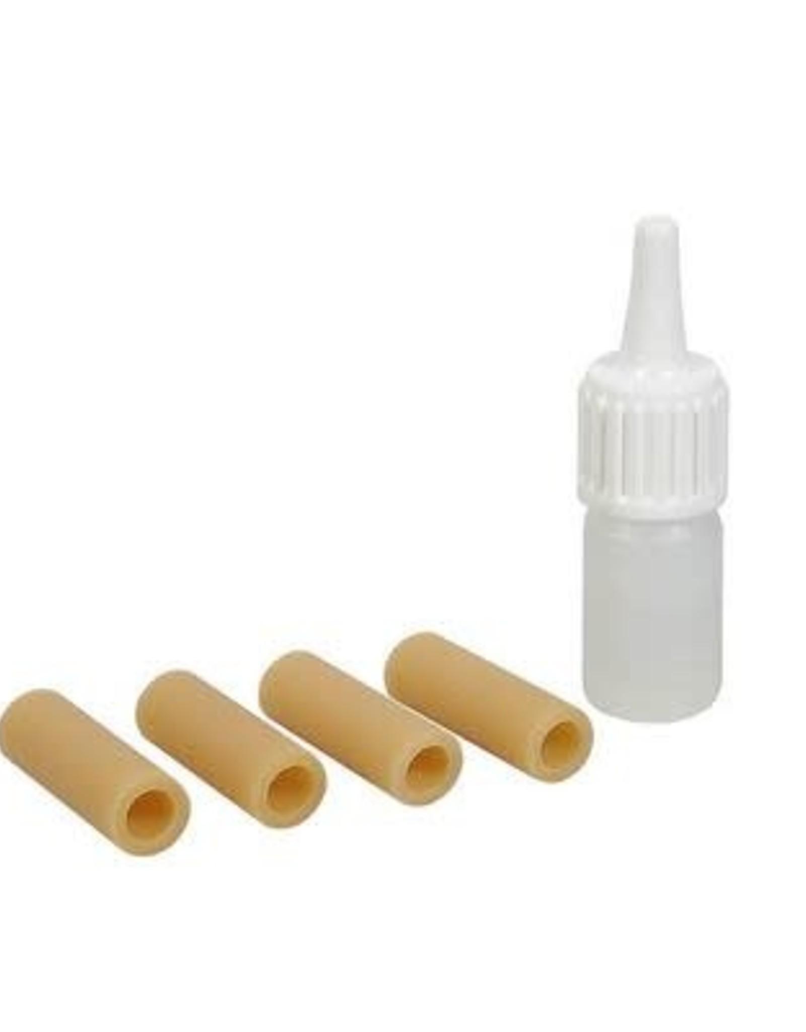 WOLF rubbertjes voor Wolf schouderstuk. 4 pieces replacement kit, met lubricant