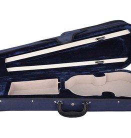 Vioolkoffer Trio 1/4,  gevormd, blauw