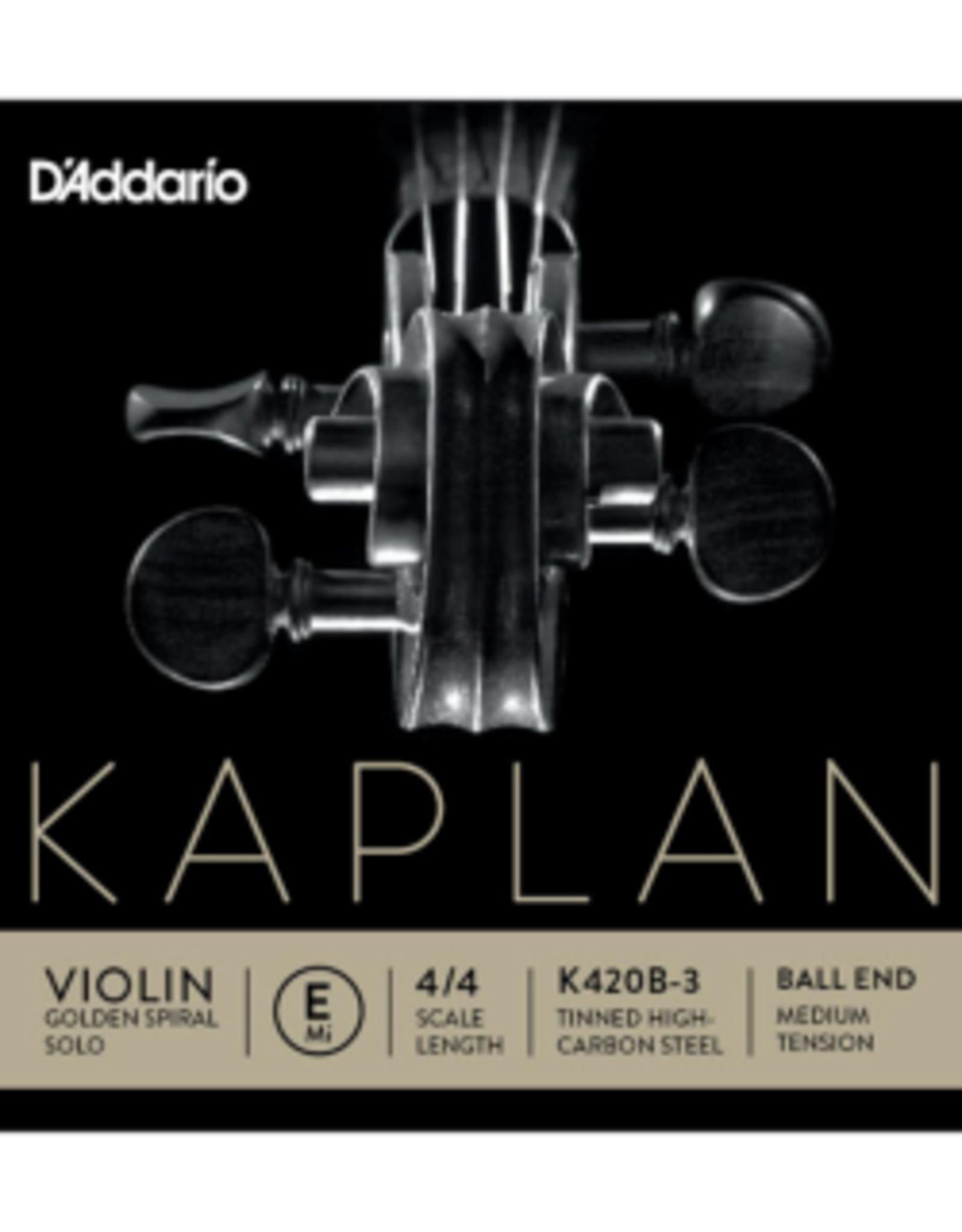 D'ADDARIO Kaplan vioolsnaar, mi (e-1), 4/4