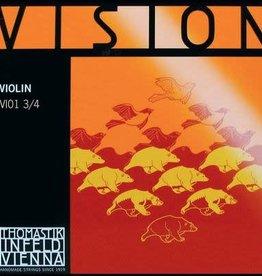 THOMASTIK Vision vioolsnaar, mi (e-1), 3/4 , medium steel wire
