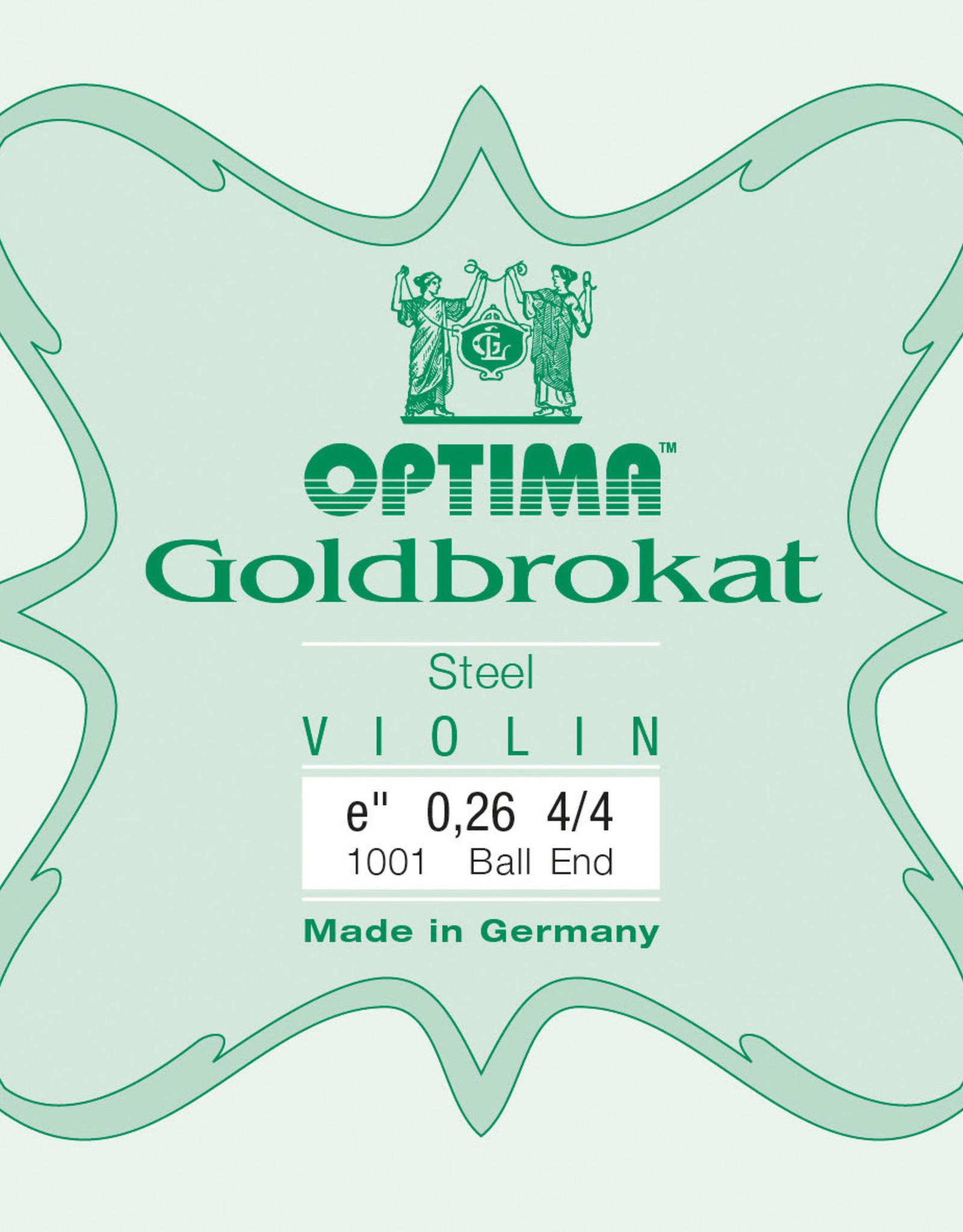 OPTIMA Goldbrokat (Lenzner) 4/4, mi-snaar (e1), loop end, 0,26, medium