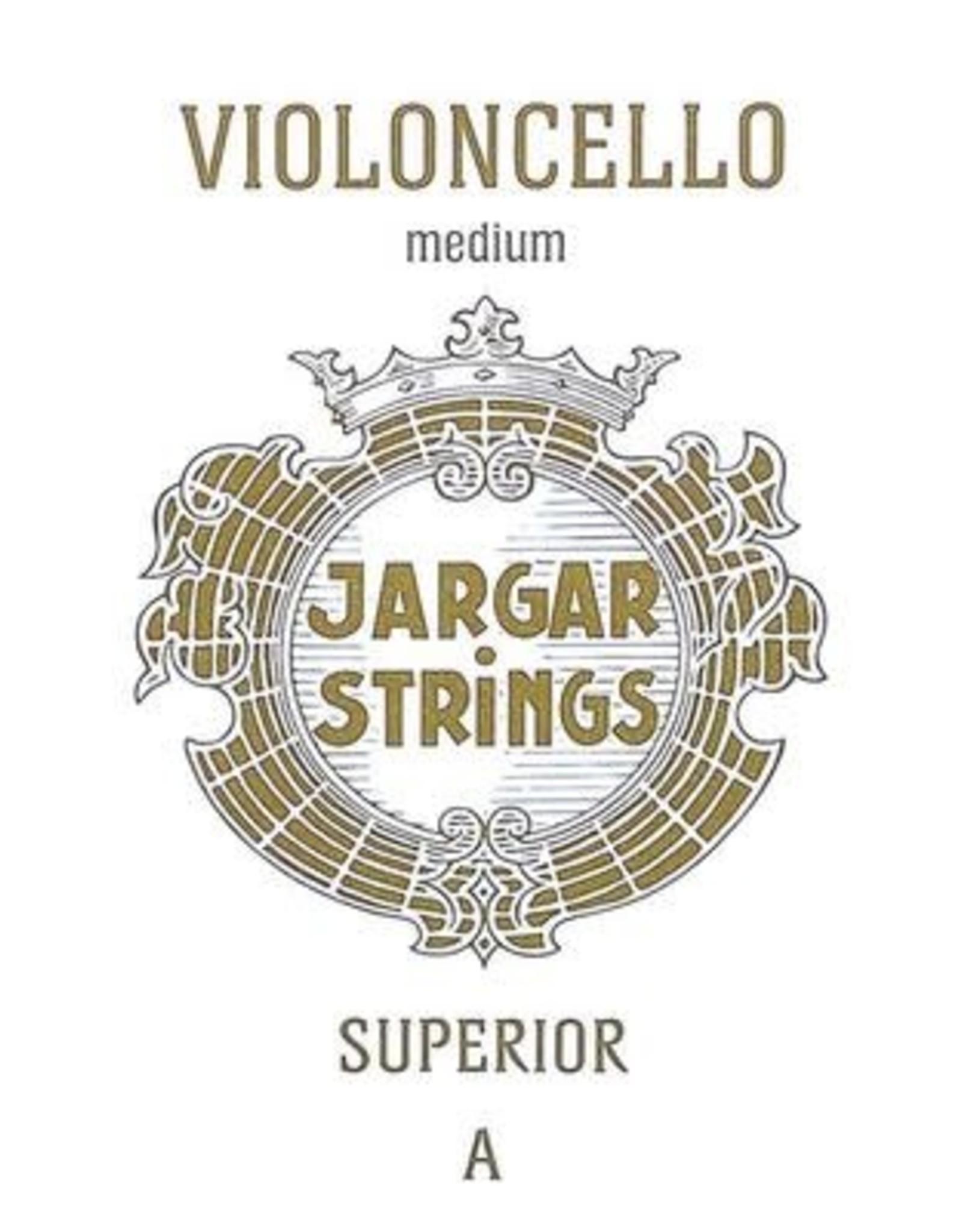 JARGAR cellosnaar, la (A-1), 4/4 medium, superior - art. JCE-ASP-BL