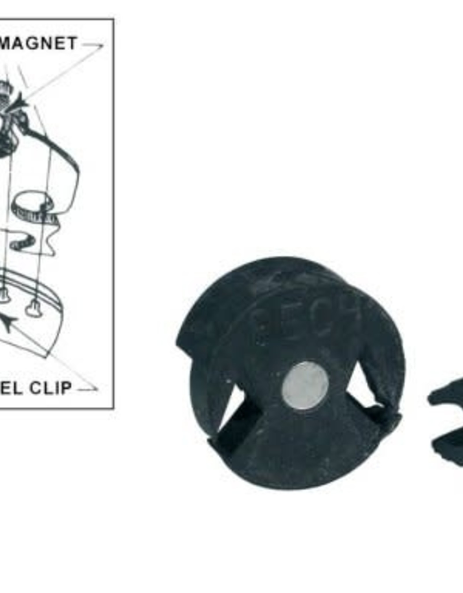 Violin/viola demper, bech model, rubber met magneet