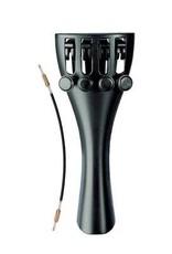 Staartstuk viool 3/4, synthetic, black, with 4 finetuners - art. 918121