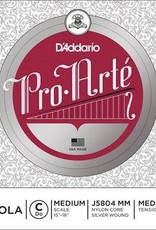 DADDARIO Pro Arte snaar voor altviool, do (C-4) 15-16, medium, silver