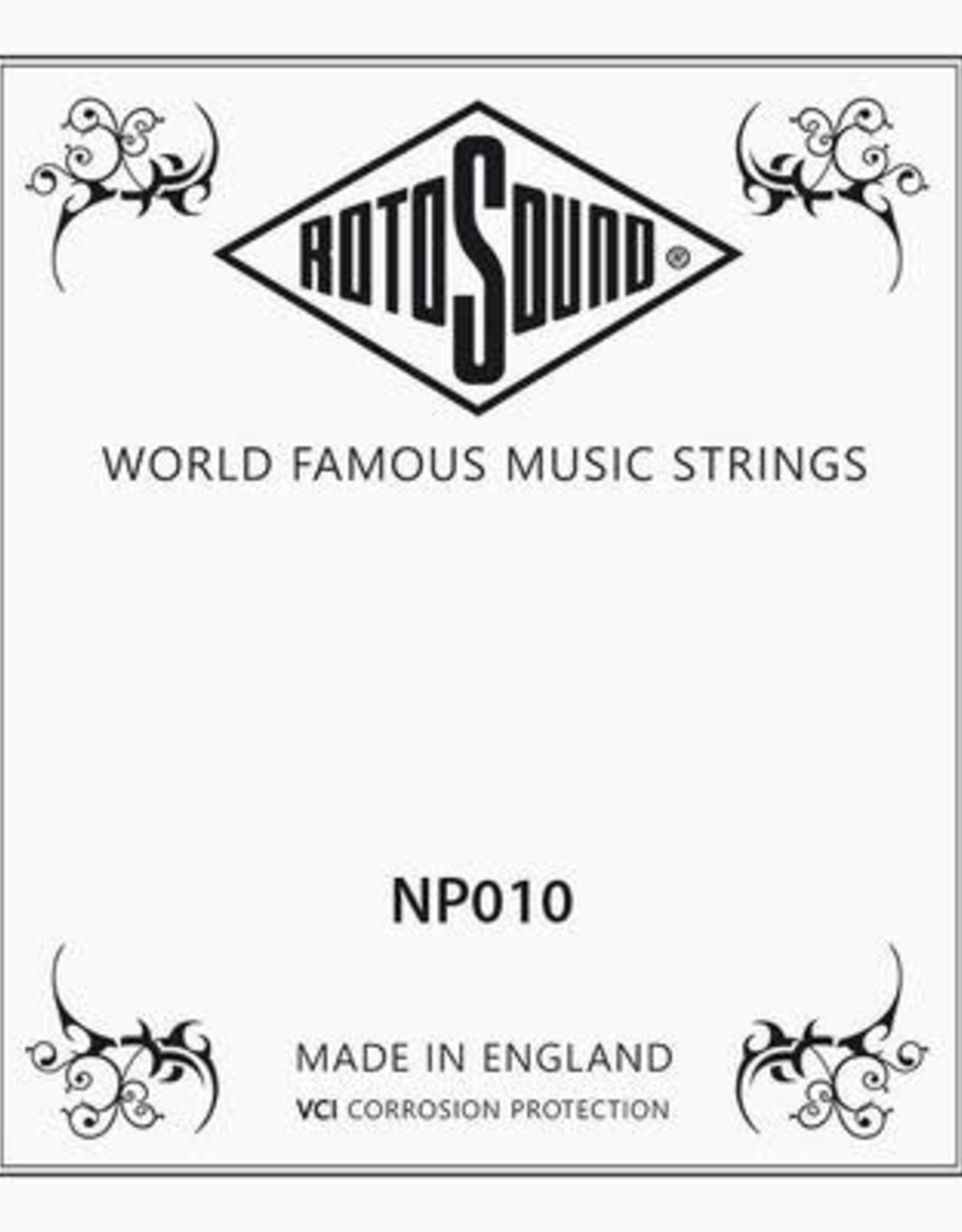 NP010 |mi-snaar Rotosound Roto .010 snaar voor elektrische/akoestische gitaar