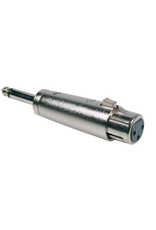 Adaptor, XLR female metal, 6,3mm jack male mono