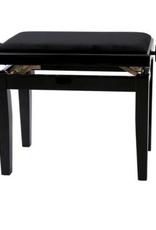 Houten bank/stoel zwart-mat