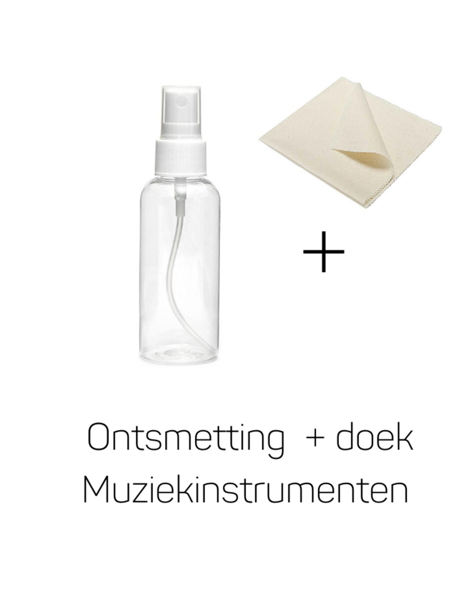 Ontsmetting + Doek voor Muziekinstrumenten (30 ml in spray)