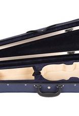 Vioolkoffer Trio, gevormd, blauw (alle maten)