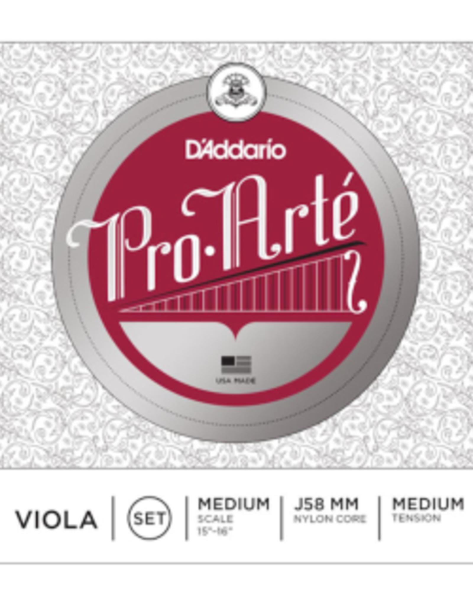 D'ADDARIO pro arte viola string set, 15'-16'