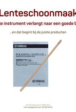 Poetsstaaf Dwarsfluit + Poetsdoek Yamaha verzilverde instrumenten