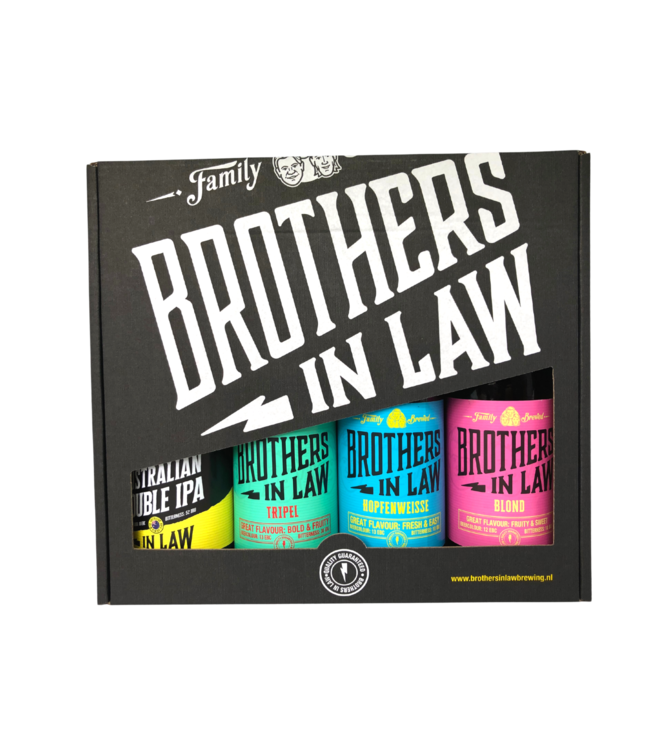 Brothers In Law Cadeauverpakking 4- pack