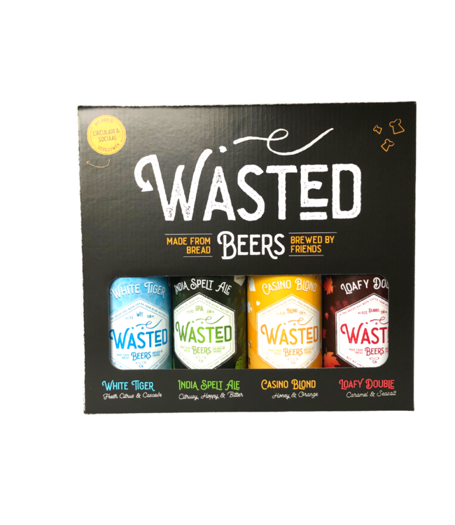 Wasted Beers Wasted Beer Cadeauverpakking 4- Pack