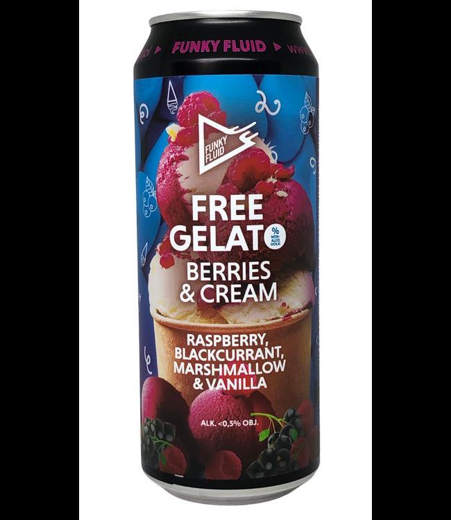 Funky Fluid Funky Fluid Free Gelato Berries & cream 500ml