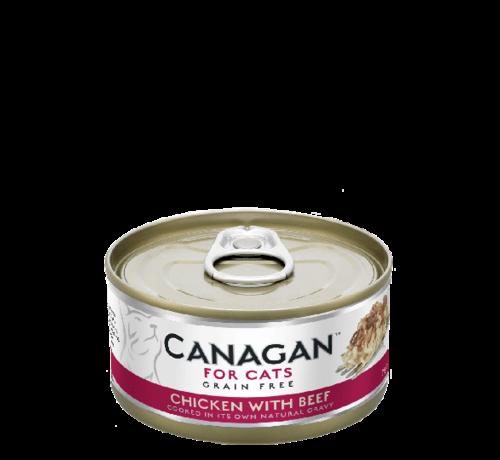Canagan kat Canagan  Chicken with Beef blik 75 gr