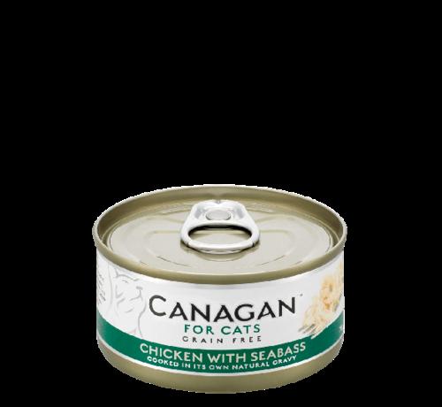 Canagan kat Canagan  Chicken with Seabass blik 75 gr
