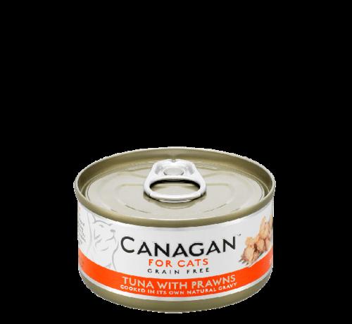 Canagan kat Canagan  Tuna with Prawns  blik 75 gr