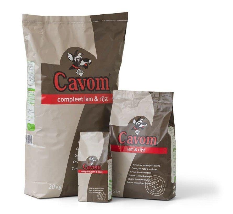 Cavom Compleet lam&rijst 20 kg