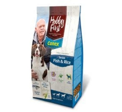 Hobby First Canex Hobby First Canex senior fish&rice 12 kg