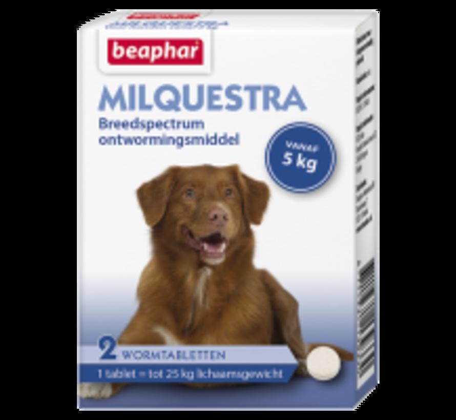 Beaphar Milquestra hond (5 tot 50 kg) 2 tabl