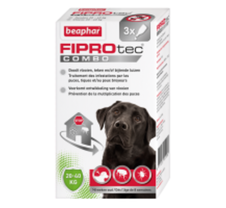 Beaphar Fiprotec combo hond 20-40kg 3 pip