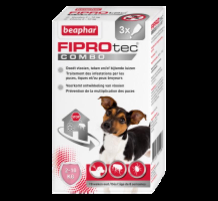 Beaphar Fiprotec combo hond 2-10kg 3 pip